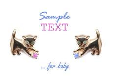 Tarjeta de felicitación para el bebé Foto de archivo libre de regalías