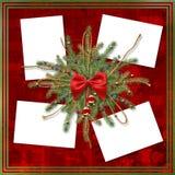 Tarjeta de felicitación para el día de fiesta con una cinta roja Fotografía de archivo