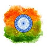 Tarjeta de felicitación para el Día de la Independencia indio Imágenes de archivo libres de regalías