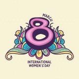 Tarjeta de felicitación para el día de las mujeres Fotografía de archivo libre de regalías