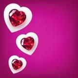Tarjeta de felicitación para el día de tarjeta del día de San Valentín Foto de archivo libre de regalías