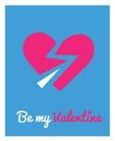 Tarjeta de felicitación para el día de tarjeta del día de San Valentín Fotos de archivo