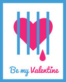 Tarjeta de felicitación para el día de tarjeta del día de San Valentín Fotos de archivo libres de regalías