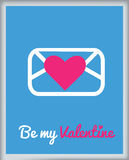 Tarjeta de felicitación para el día de tarjeta del día de San Valentín Fotografía de archivo