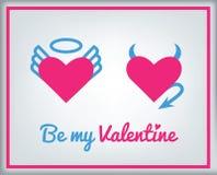 Tarjeta de felicitación para el día de tarjeta del día de San Valentín Imágenes de archivo libres de regalías