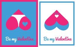 Tarjeta de felicitación para el día de tarjeta del día de San Valentín Imagen de archivo libre de regalías