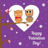 Tarjeta de felicitación para el día de tarjeta del día de San Valentín Vector Imagen de archivo libre de regalías