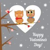 Tarjeta de felicitación para el día de tarjeta del día de San Valentín Vector Foto de archivo