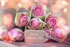 Tarjeta de felicitación para el día de tarjetas del día de San Valentín Imágenes de archivo libres de regalías