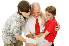 Tarjeta de felicitación para el papá Imagen de archivo libre de regalías