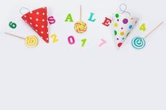 Tarjeta de felicitación para el partido del carnaval Imagenes de archivo
