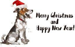 Tarjeta de felicitación para 2018 Feliz Año Nuevo Stock de ilustración