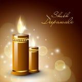 Tarjeta de felicitación para la celebración de Diwali Imagenes de archivo