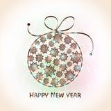 Tarjeta de felicitación para la celebración 2015 de la Feliz Año Nuevo Fotos de archivo libres de regalías