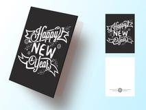 Tarjeta de felicitación para la celebración de la Feliz Año Nuevo Imagen de archivo