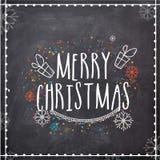 Tarjeta de felicitación para la celebración de la Feliz Navidad Fotos de archivo