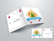 Tarjeta de felicitación para la celebración de la Feliz Navidad Foto de archivo