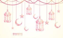 Tarjeta de felicitación para la celebración de Ramadan Kareem Imagenes de archivo