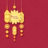 Tarjeta de felicitación para la celebración de Ramadan Kareem Fotos de archivo