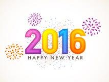Tarjeta de felicitación para la celebración 2016 del Año Nuevo Imagen de archivo libre de regalías
