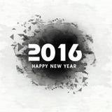 Tarjeta de felicitación para la celebración 2016 del Año Nuevo Imágenes de archivo libres de regalías