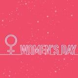 Tarjeta de felicitación para la celebración del día de las mujeres Imágenes de archivo libres de regalías