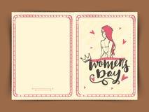Tarjeta de felicitación para la celebración del día de las mujeres Foto de archivo libre de regalías