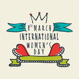 Tarjeta de felicitación para la celebración del día de las mujeres Fotos de archivo libres de regalías