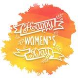 Tarjeta de felicitación para la celebración del día de las mujeres Imagen de archivo libre de regalías