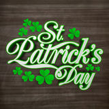 Tarjeta de felicitación para la celebración del día de St Patrick Fotografía de archivo libre de regalías
