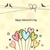 Tarjeta de felicitación para la celebración del día de tarjeta del día de San Valentín Foto de archivo