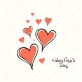 Tarjeta de felicitación para la celebración del día de tarjeta del día de San Valentín Fotografía de archivo libre de regalías