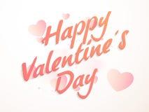 Tarjeta de felicitación para la celebración del día de tarjeta del día de San Valentín Imagen de archivo libre de regalías
