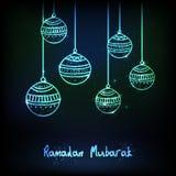 Tarjeta de felicitación para la celebración del Ramadán Foto de archivo