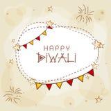 Tarjeta de felicitación para la celebración feliz de Diwali Foto de archivo libre de regalías