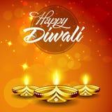 Tarjeta de felicitación para la celebración feliz de Diwali Fotos de archivo
