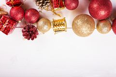 Tarjeta de felicitación para la Navidad Foto de archivo