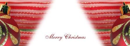 Tarjeta de felicitación para la Navidad Fotografía de archivo