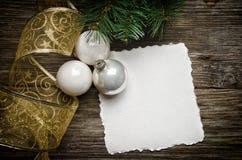 Tarjeta de felicitación para la Navidad Fotos de archivo