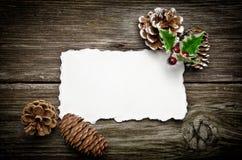 Tarjeta de felicitación para la Navidad Imágenes de archivo libres de regalías