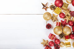 Tarjeta de felicitación para la Navidad Fotografía de archivo libre de regalías