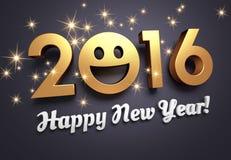 Tarjeta 2016 de felicitación para la sonrisa Fotografía de archivo