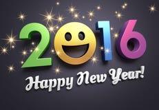 Tarjeta 2016 de felicitación para la sonrisa Foto de archivo libre de regalías