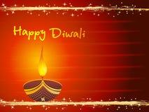 Tarjeta de felicitación para la tarjeta aislada del diwali Imagen de archivo libre de regalías