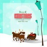 Tarjeta de felicitación para las celebraciones de la Navidad y del Año Nuevo Imagen de archivo