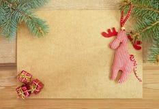 Tarjeta de felicitación para los días de fiesta de la Navidad Imágenes de archivo libres de regalías