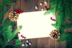 Tarjeta de felicitación para los días de fiesta del Año Nuevo Fotos de archivo