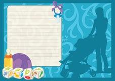 Tarjeta de felicitación para un niño recién nacido Fotografía de archivo