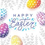 Tarjeta de felicitación de Pascua con los huevos libre illustration
