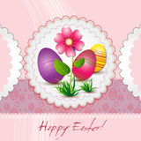 Tarjeta de felicitación pascua feliz Imagenes de archivo